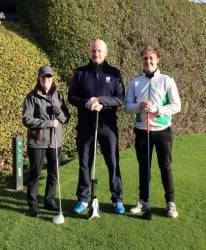 Lady Captain (Mary O'Toole), Mr Captain (Simon Barber) and Junior Captain (Tom Troup)