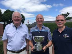David Read, Seniors Manager, presenting the Beetlestone Bowl to