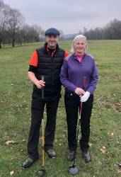 Bob Anderson (Mr Captain) and Sue Freeman (Lady Captain)
